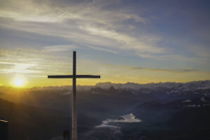The cross in a beautiful sky