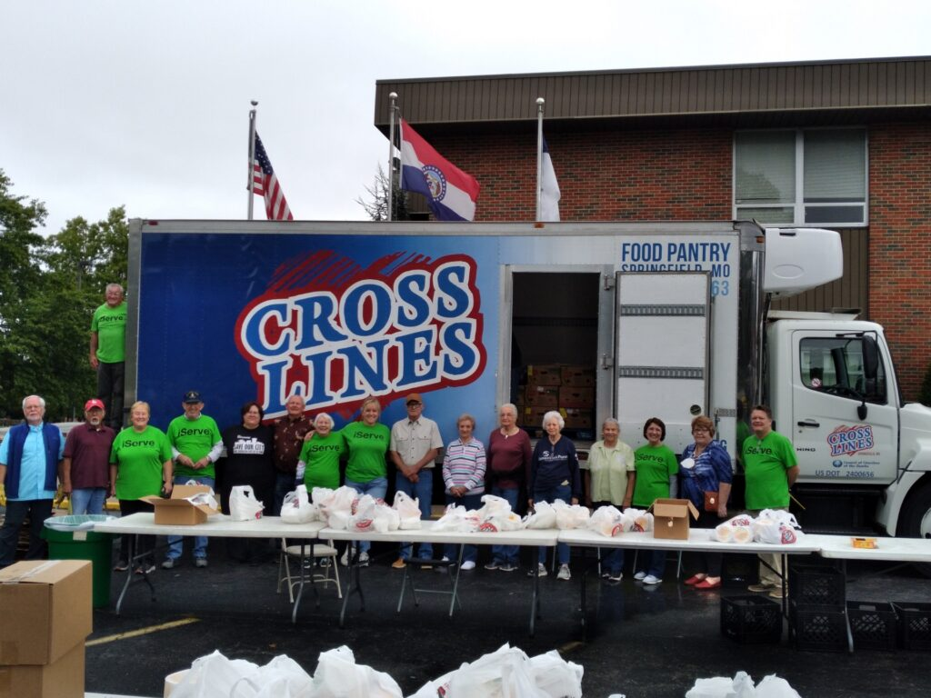 Food pantry workers together